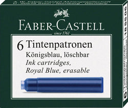 Graf von Faber-Castell Ink Cartridges in Brilliant Blue - Pack of 6 Fountain Pen Cartridges