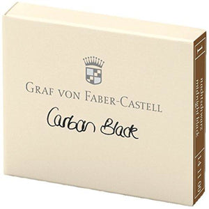 Graf von Faber-Castell Ink Cartridges in Carbon Black - Pack of 6 Fountain Pen Cartridges