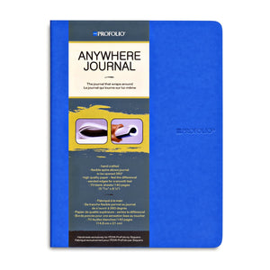 Itoya Profolio Anywhere Blank Sheet Journal in Blue - A5 Notebook