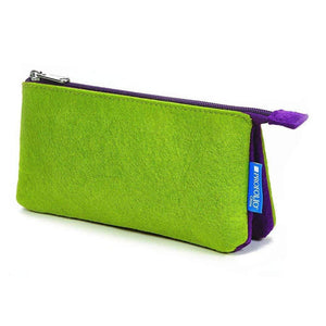 Itoya Profolio Large Midtown Pouch in Green and Purple Pen Case