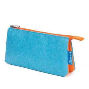 Itoya Profolio Large Midtown Pouch in Ocean and Orange Pen Case