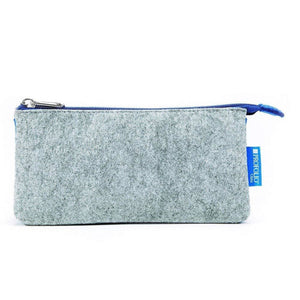 Itoya Profolio Small Midtown Pouch in Gray and Blue Pen Case