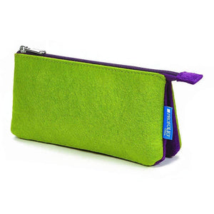 Itoya Profolio Small Midtown Pouch in Green and Purple Pen Case