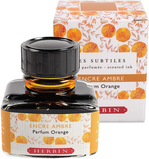 J. Herbin Bottled Ink in Encre Ambre - Orange Scented - 30 mL Pen