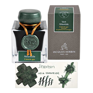 J. Herbin Encre 350 Bottled Ink in Vert Atlantide - 50 mL Bottled Ink