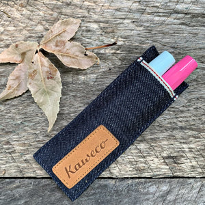 Kaweco Blue Denim Jean 2 Pen Pouch for Sport & Liliput Pen Case