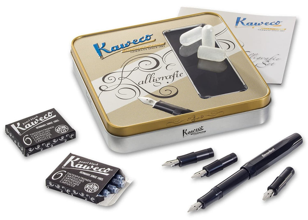 Kaweco Calligraphy Set - Black - Nib Sizes 1.1 1.5 1.9 2.3 Fountain Pen