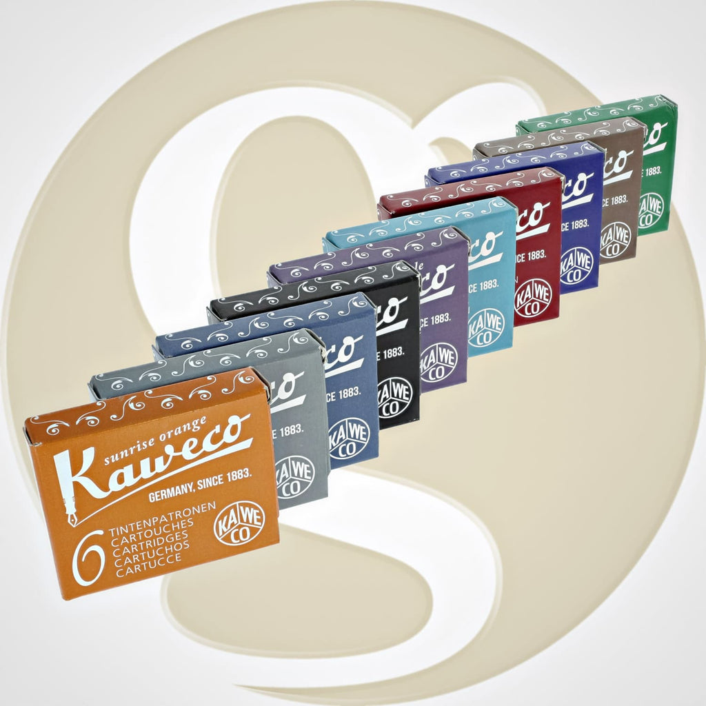 Kaweco Ink Cartridges in Assorted Colors - 10 Sets of 6 Fountain Pen Cartridges