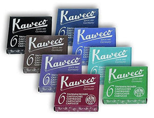 Kaweco Ink Cartridges in Assorted Colors - 8 Sets of 6 Fountain Pen Cartridges