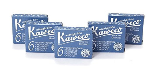 Kaweco Ink Cartridges in Blue/Black - 5 Sets of 6 Fountain Pen Cartridges