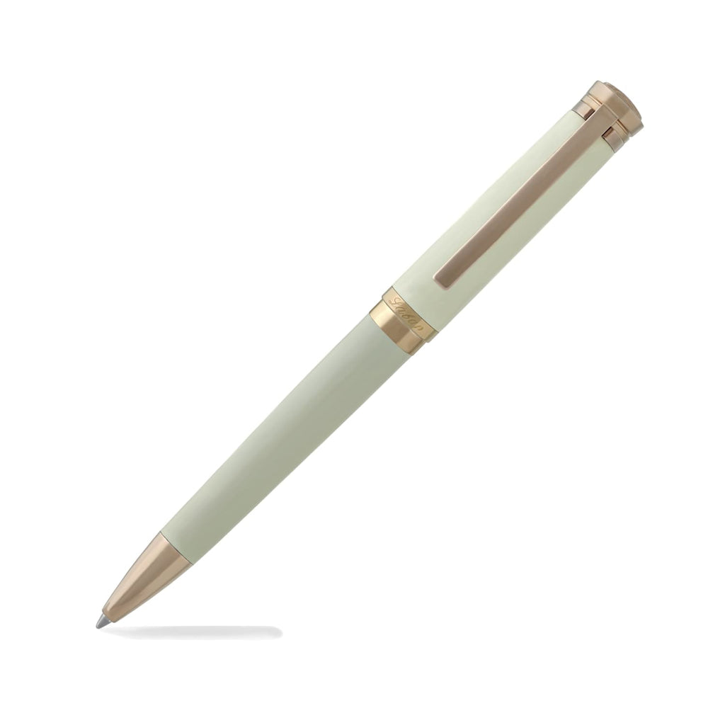 Laban Elegant Ballpoint Pen in Ivory with Rose Gold Trim Ballpoint Pen