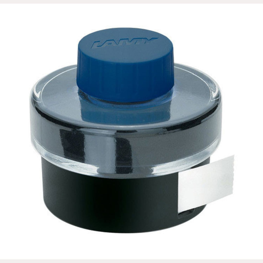 Lamy Bottled Ink in Blue/Black with Blotting Paper - 50 mL Bottled Ink
