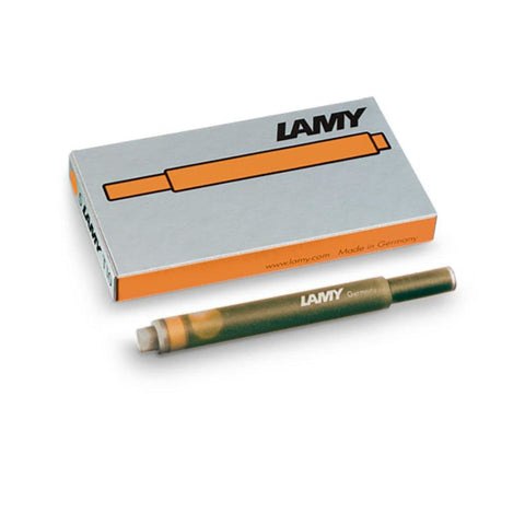Lamy Fountain Ink Cartridge Refills in Bronze - 5 Pack - Limited Edition Fountain Pen Cartridges