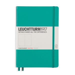 Leuchtturm 1917 Hardcover Dot Grid Notebook in Emerald Green - A5 Notebook