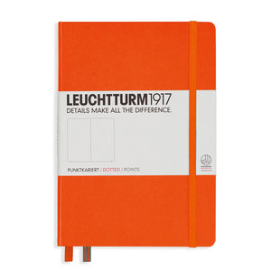Leuchtturm 1917 Hardcover Dot Grid Notebook in Orange - A5 Notebook