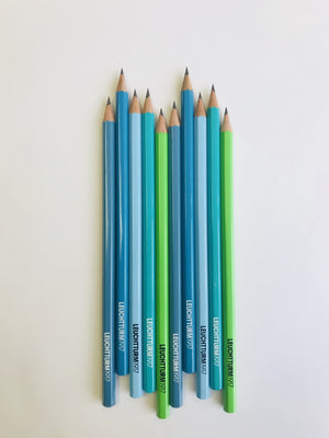 Leuchtturm1917 HB Pencils Unit Blue in Assorted Colors - Pack of 10 Pencil