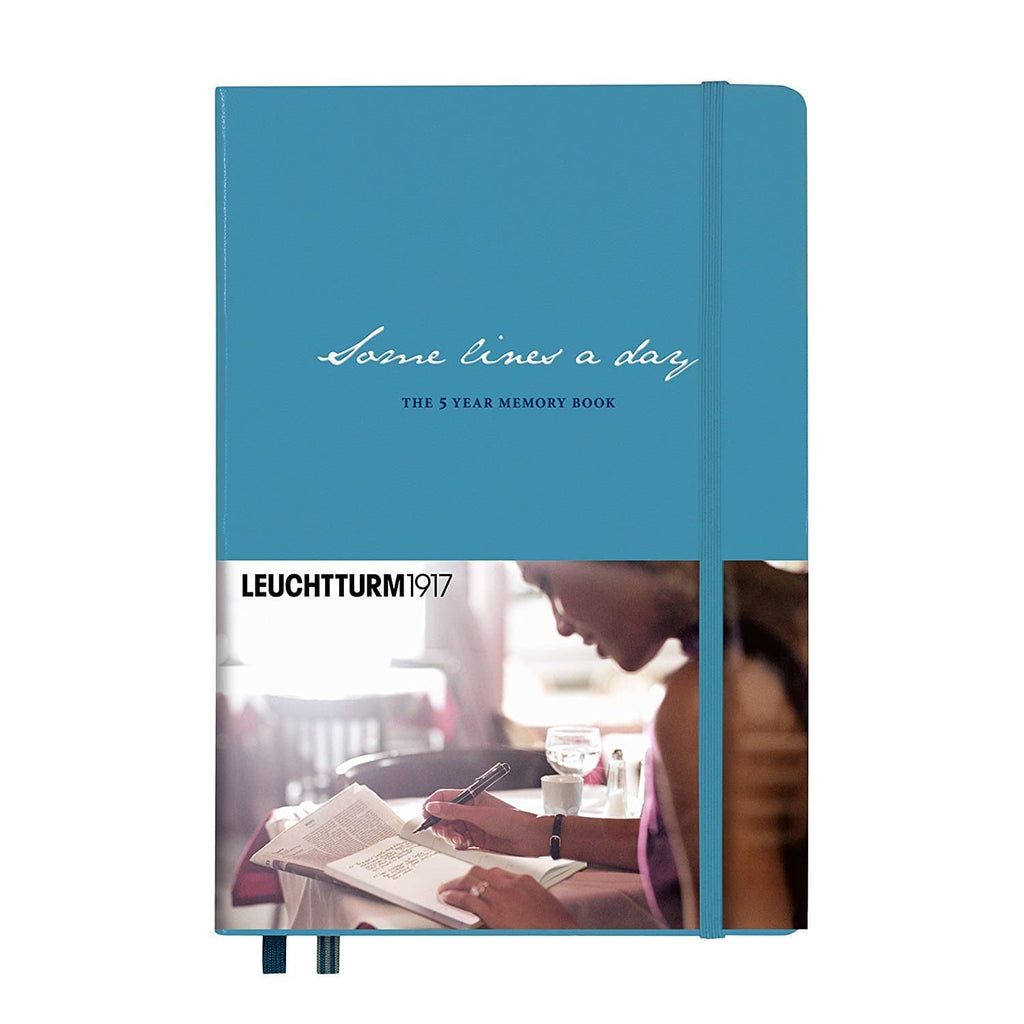 Leuchtturm1917 Some Lines a Day - Five Year Book - Nordic Blue - Medium - A5 Notebook