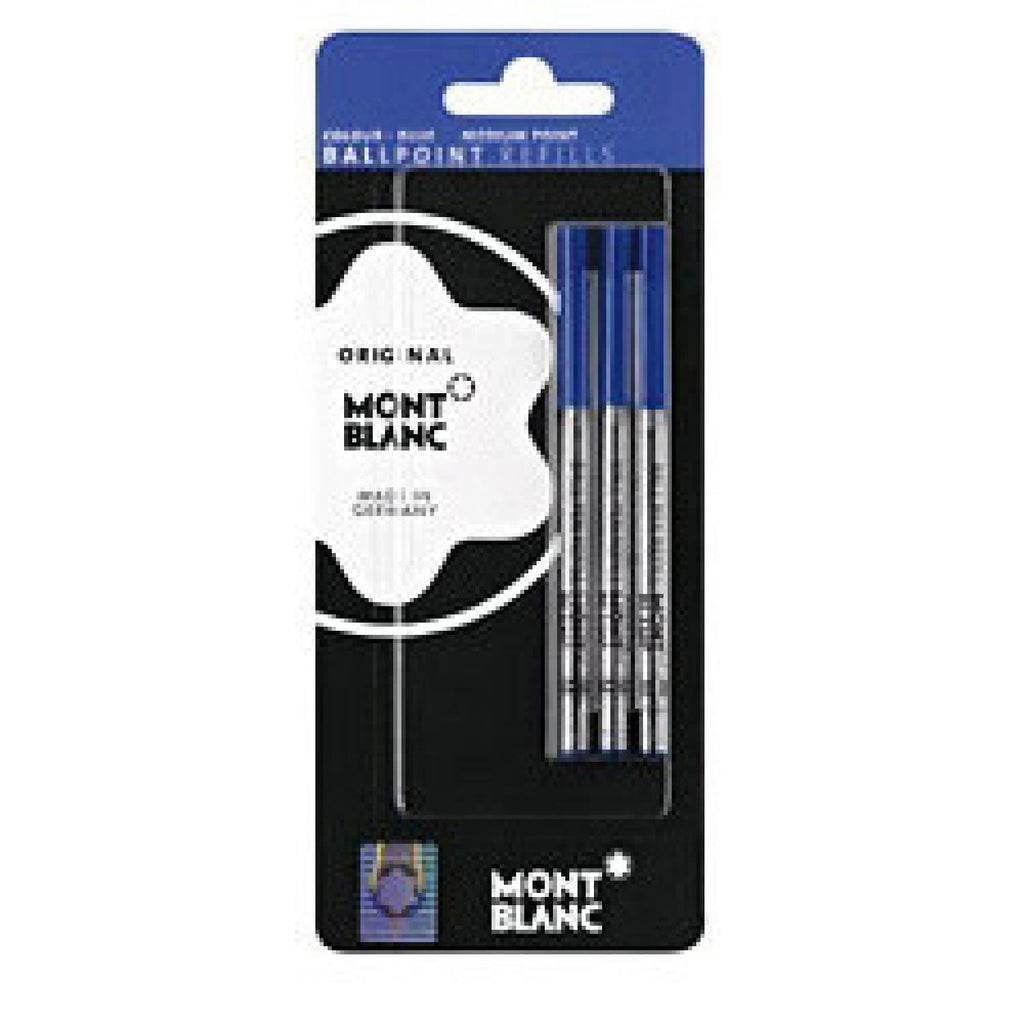 Montblanc Ballpoint Pen Refill in Blue - Medium Point - Pack of 3 Ballpoint Pen Refill
