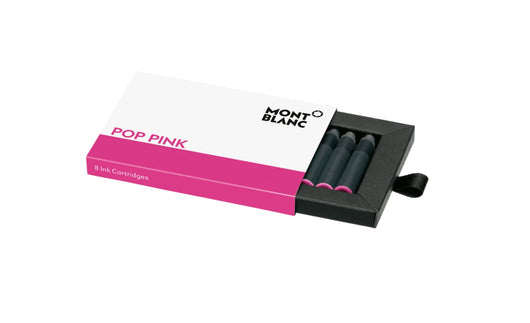 Montblanc Ink Cartridges in Pop Pink - Pack of 8 Fountain Pen Cartridges
