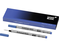 Montblanc Rollerball Refill in Pacific Blue - Medium Point - Pack of 2 Rollerball Refill