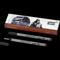 Montblanc Writers Antoine de St. Exupery Edition Rollerball Refill in Brown - Medium Point - Pack of 2 Rollerball Refill