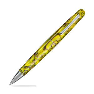 Montegrappa Elmo Fantasy Blooms Ballpoint Pen in Iris Yellow Ballpoint Pen