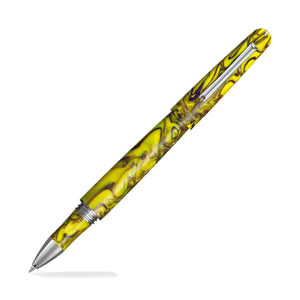 Montegrappa Elmo Fantasy Blooms Rollerball Pen in Iris Yellow Rollerball Pen
