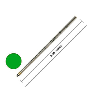 Monteverde D-1 Size Soft Roll Multi Function Ballpoint Pen Refill in Green - Medium Point Multi-Function Refill