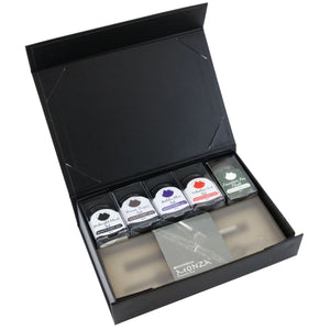 Monteverde Monza Fountain Pen Gift Set in Gray Sky in with Ink and Pen Flush - Medium Point Gift Set