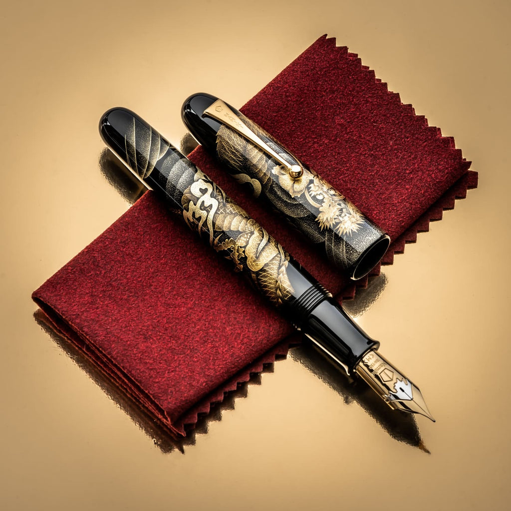 Namiki Chinkin Fountain Pen in Dragon - 18K Gold Fountain Pen