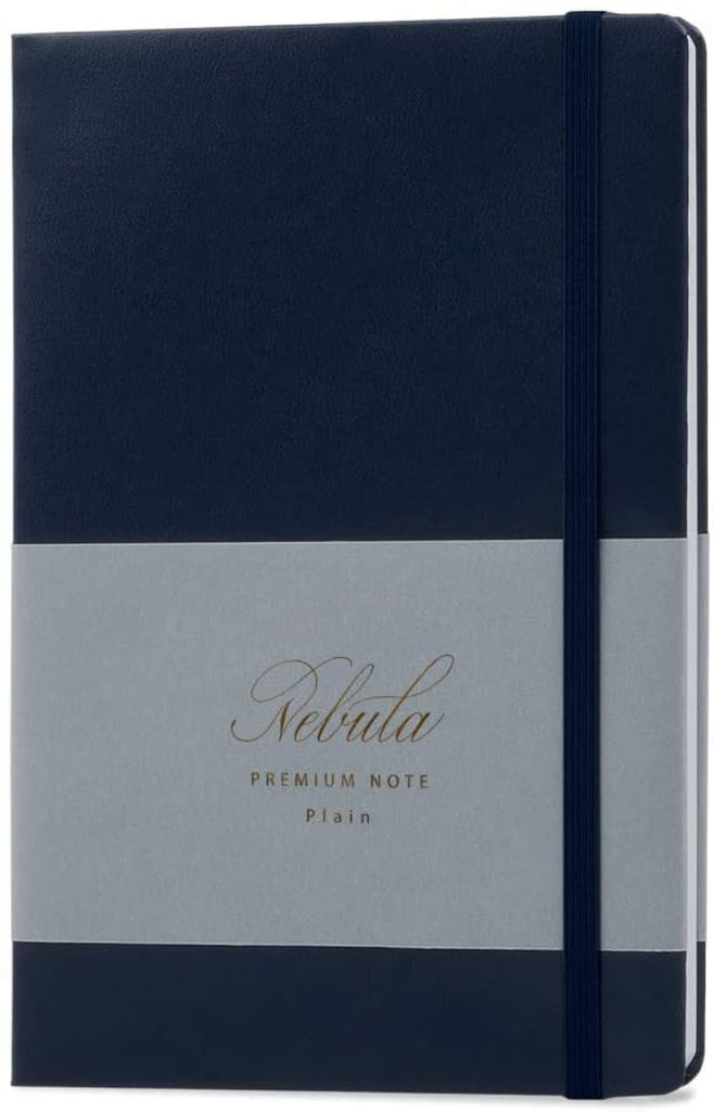 Nebula by Colorverse A5 Notebook in Midnight Navy - Plain Notebook