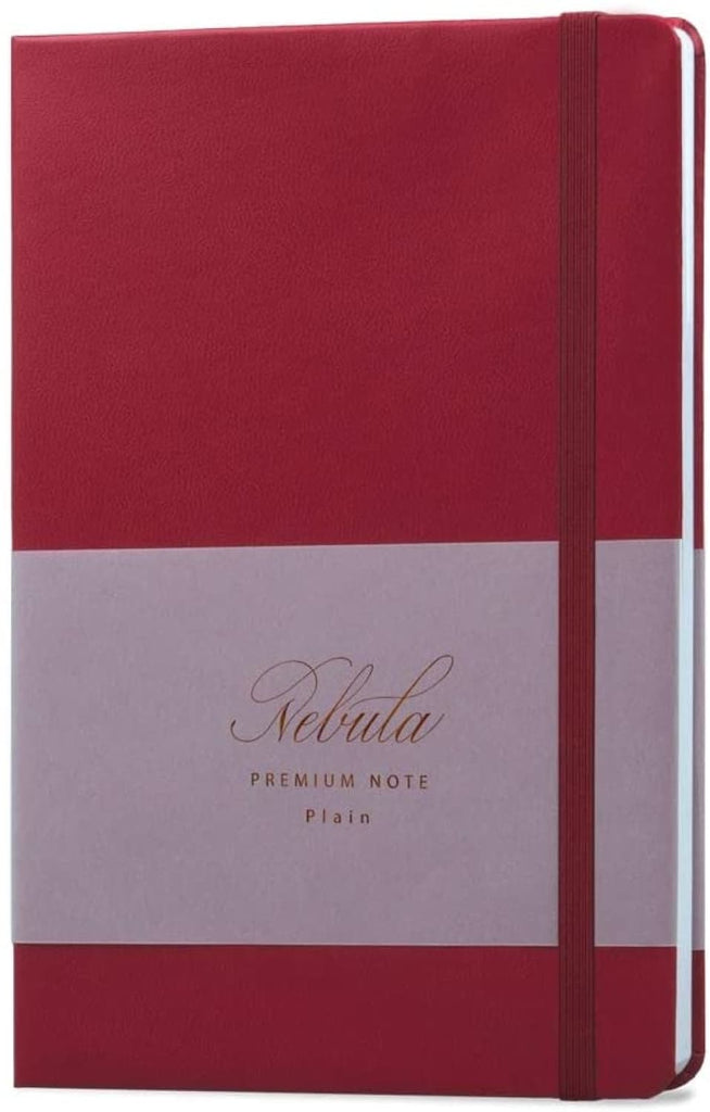 Nebula by Colorverse A5 Notebook in Ruby Wine - Plain Notebook