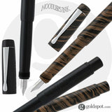 Noodlers Boston Safety Fountain Pen in Chestnut - Semi Flex Nib Fountain Pen