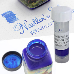 Noodlers Bottled Ink in Revolution Blue - 2 mL Bottled Ink