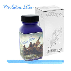 Noodlers Bottled Ink in Revolution Blue - 3oz Bottled Ink