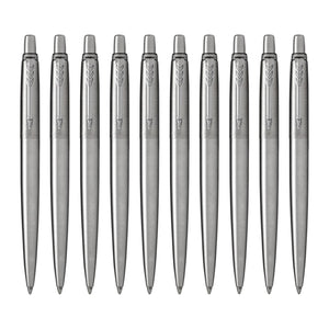 Parker Jotter Ballpoint Pen in Stainless Steel - Pack of 10 Ballpoint Pen
