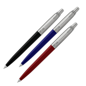 Parker Jotter Ballpoint Pen Variety Set in Red Blue & Black Gift Set