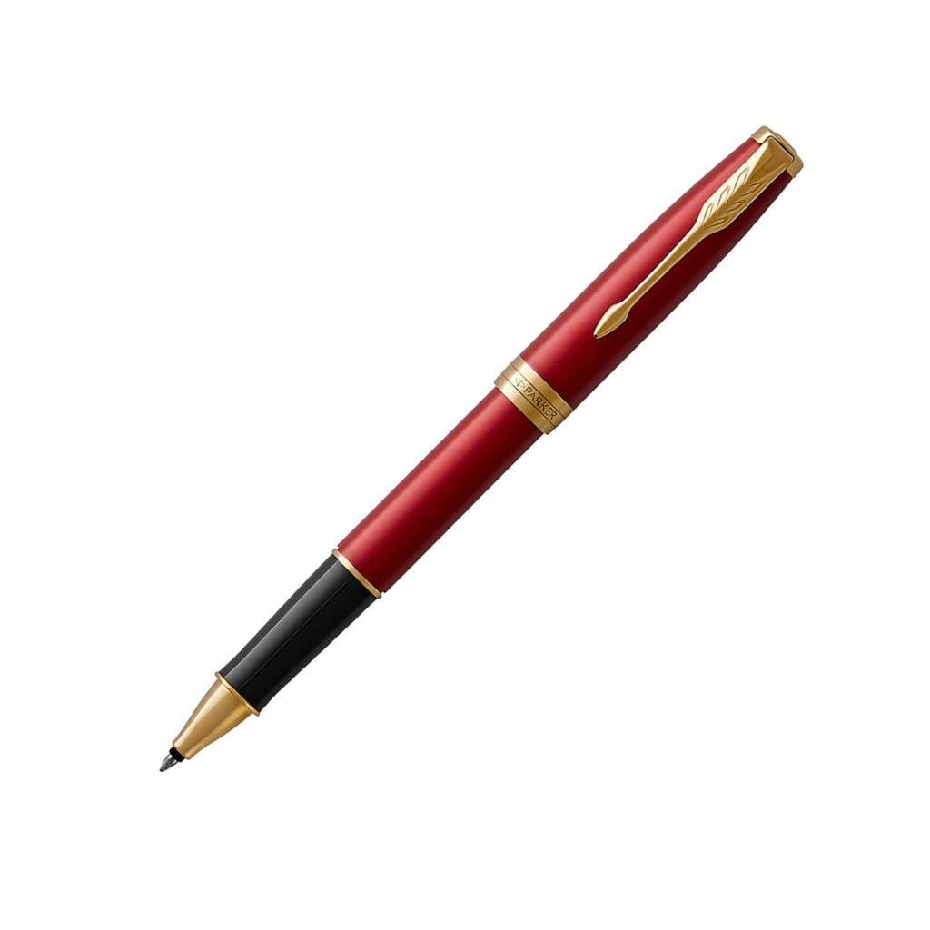 Parker Sonnet Rollerball Pen in Lacquered Red with Gold Trim Rollerball Pen