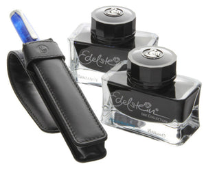 Pelikan Edelstein Inks with Leather Pen Case Set Gift Set
