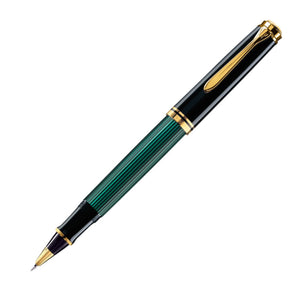 Pelikan Souveran R800 Rollerball Pen in Black & Green with Gold Trim Rollerball Pen