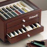 Pelikan Wood Pen Collectors Display Box - Holds 24 Pens Pen Case