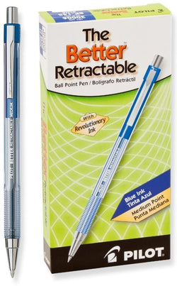 Pilot Better Retractable Ballpoint Pen Pack of 12 in Blue - Medium Point - 30006 Ballpoint Pen