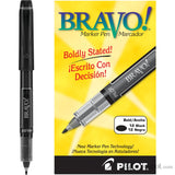 Pilot Bravo Liquid Ink Markers in Black - Bold Point Marker