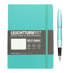 Pilot Bullet Journal Pen and Leuchturm1917 Notebook Starter Set in Emerald - Medium Point Gift Set