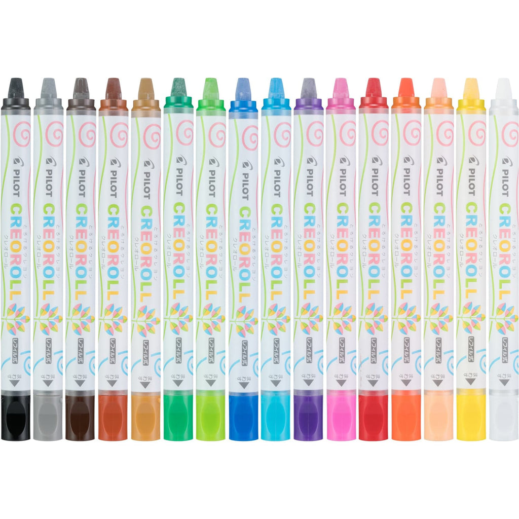 Pilot Enso Creoroll Gel Crayon in Assorted Colors - Pack of 16 Marker