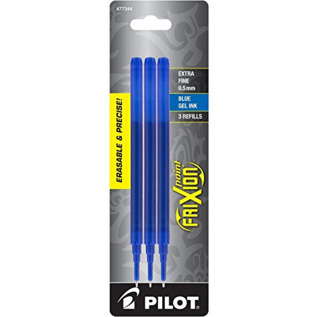 Pilot FriXion Erasable Ballpoint Pen Refill in Blue - Extra Fine Point - Pack of 3 Ballpoint Pen Refill