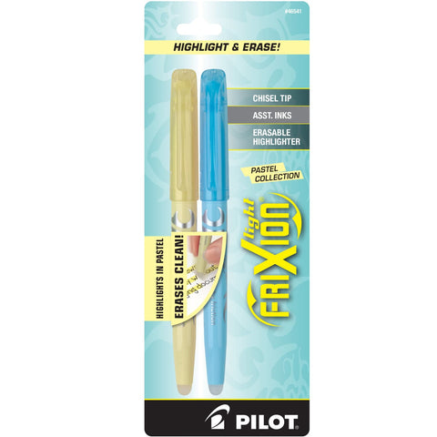Pilot FriXion Erasable Highlighters in Light Pastel Collection - Chisel Tip - Pack 2 Marker