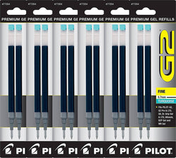 Pilot G2 Rollerball Gel Pen Refill in Turquoise - Fine Point - Pack of 6 Gel Refill