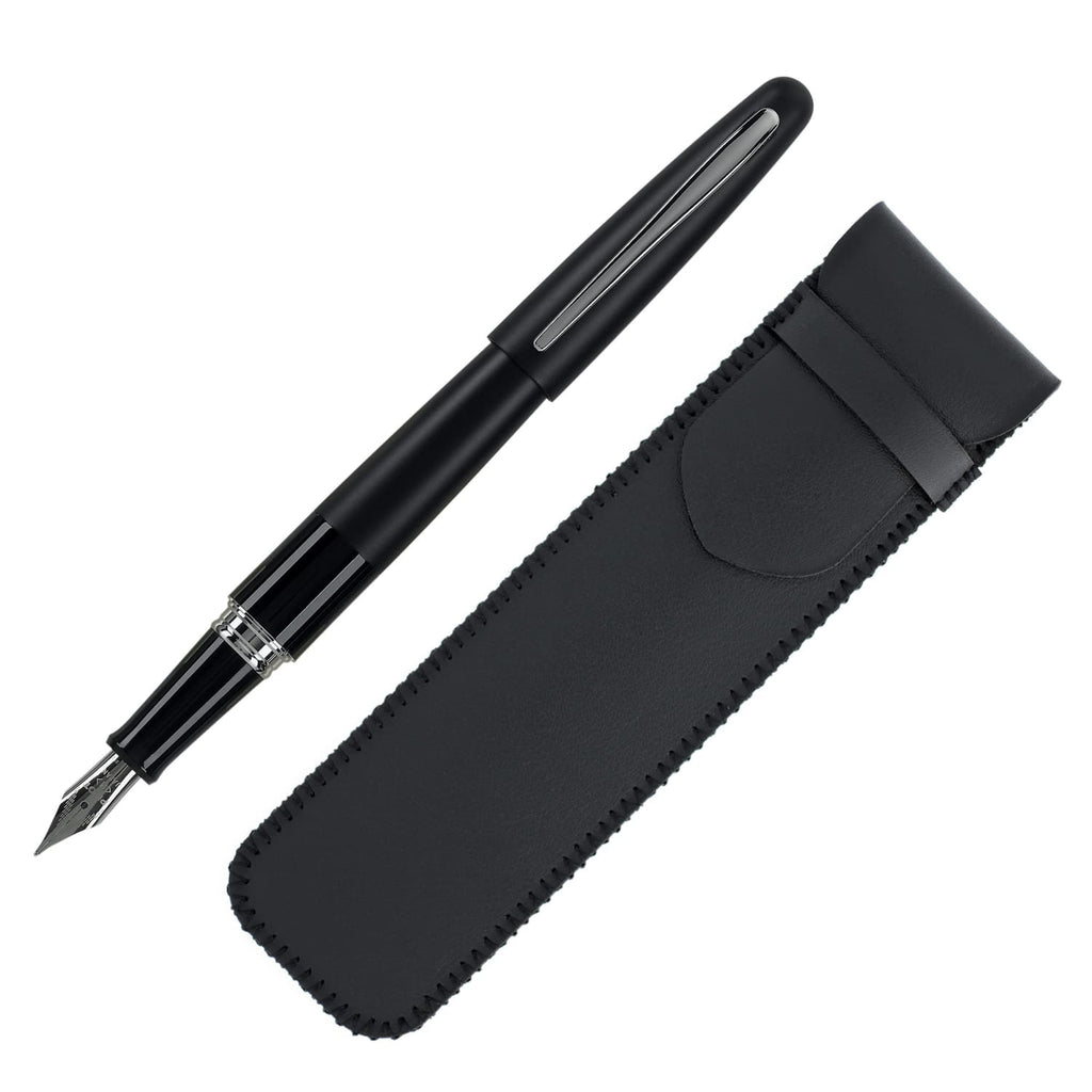 Pilot Metropolitan Fountain Pen with Single Pen Pouch in Black - Fine Point Gift Set