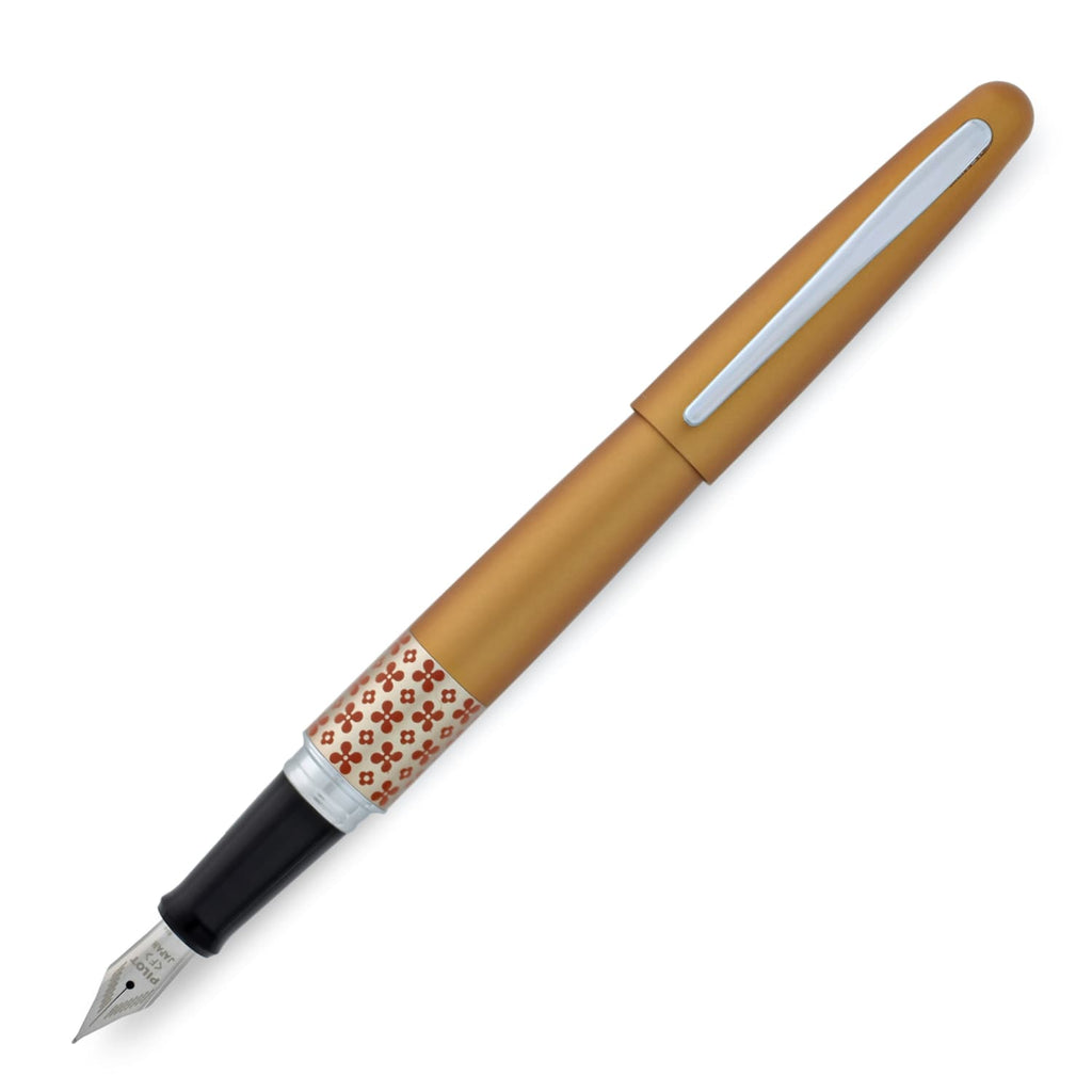 Pilot MR Retro Pop Fountain Pen in Marigold Orange with 2 Free Refills - Fine Point Fountain Pen